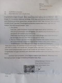 PPKD Desa Teluk Bakung Ada Indikasi Melanggar Aturan Sendiri