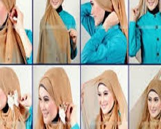 cara memakai jilbab segi empat untuk sekolah smp