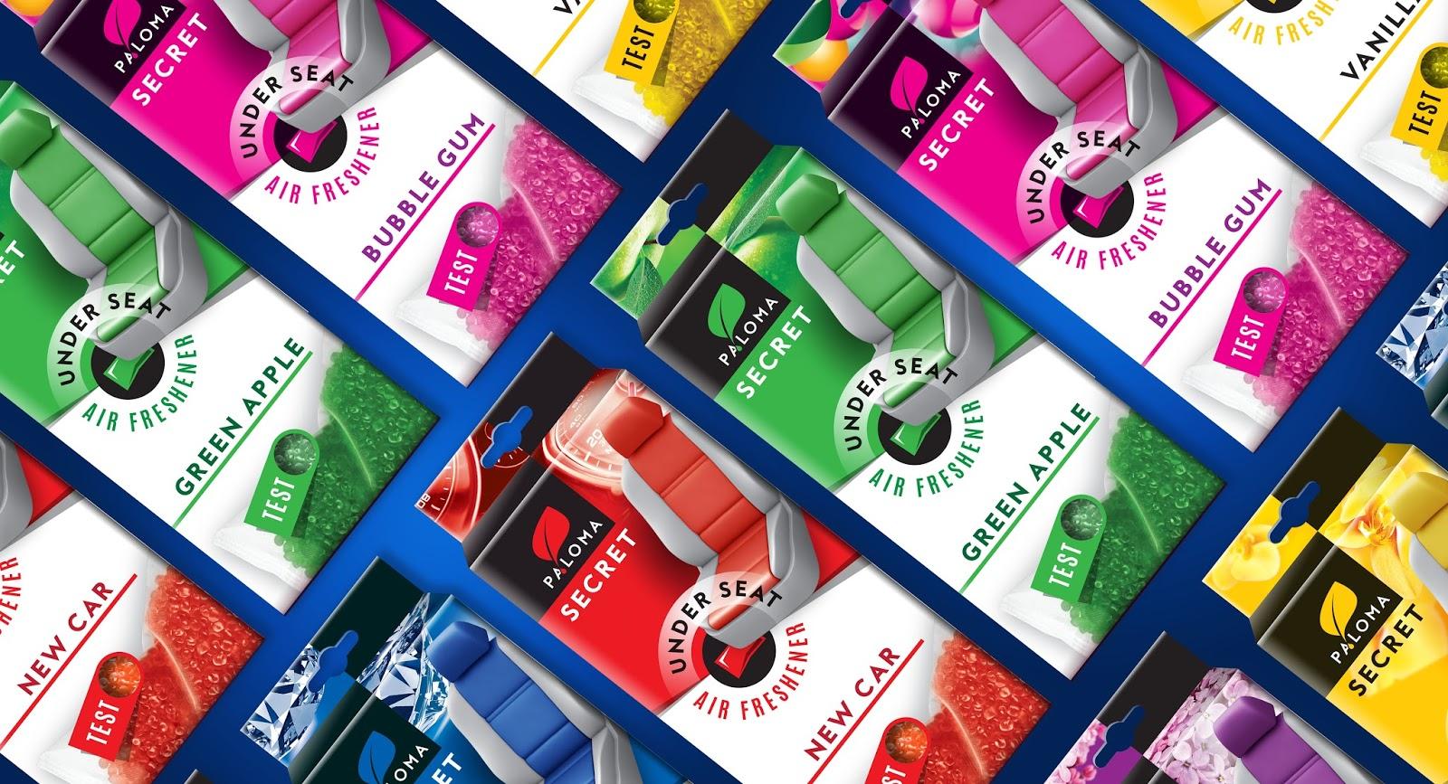 Secret Car Air Freshener On Packaging Of The World