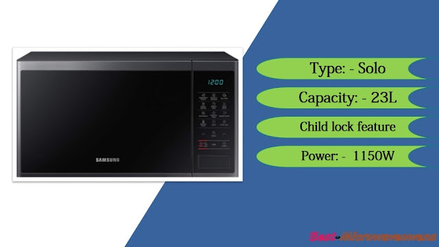 Samsung MS23J5133AG/TL - best microwave oven