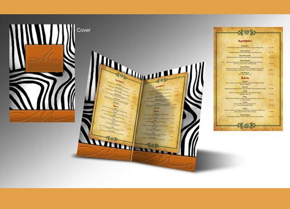 menu de restaurante