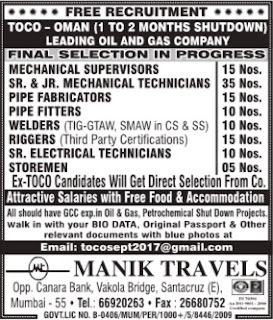 Leading Oil & Gas company shutdown jobs