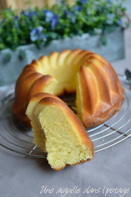 Gâteau au fromage blanc et fleur d'oranger