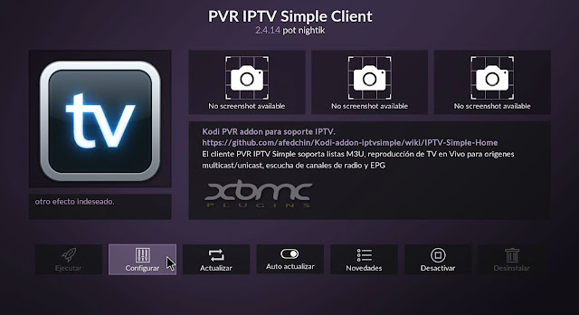 Configurar PVR IPTV simple client