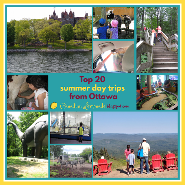 Collage of 20 daytrips from Ottawa.