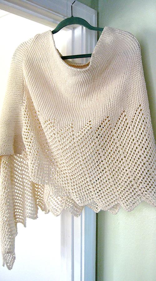 Lace Cotton Ponchette - Free Pattern