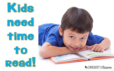 If you want kids to be better readers, you need to give them time to read!