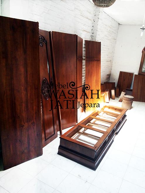 Lemari Furniture Knockdown Toko Mebel Wasiah Jati Jepara