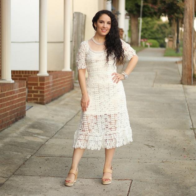 Noracora Lace Midi Dress