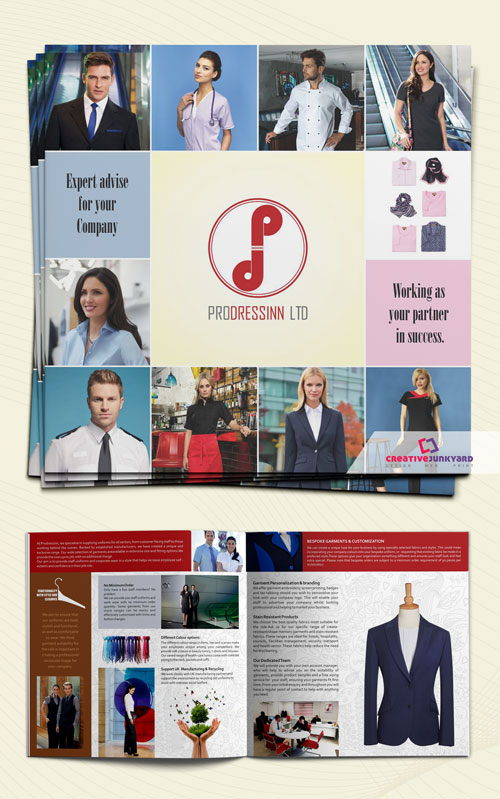 clothing brochure