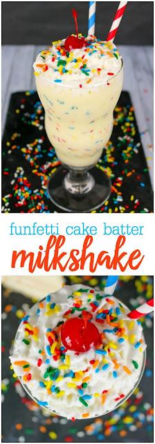 Funfetti Cake Batter Milkshake