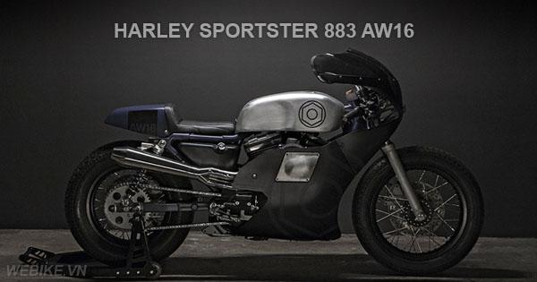 Harley Davidson Sportster 883 độ Cafe Racer cổ điển huyền bí