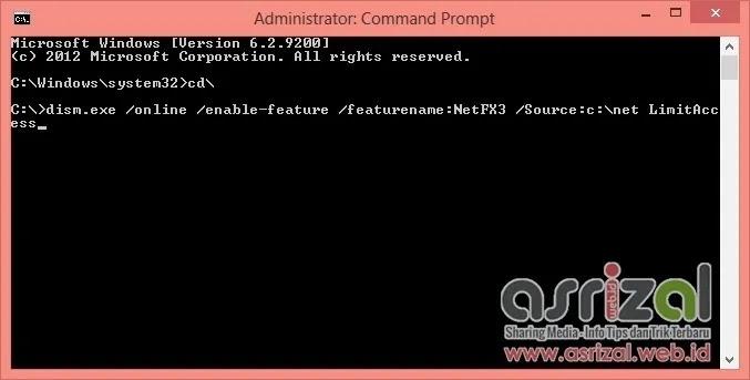 Cara Mengaktifkan NET Framework 3.5 Pada Windows 8 Offline