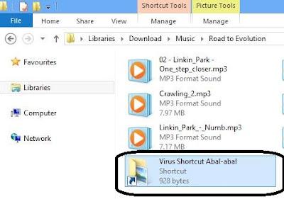 Menghilangkan Virus Shortcut di Flashdisk dan Hardisk