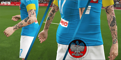 PES 2018 KS Tattoopack Marek Hamsik