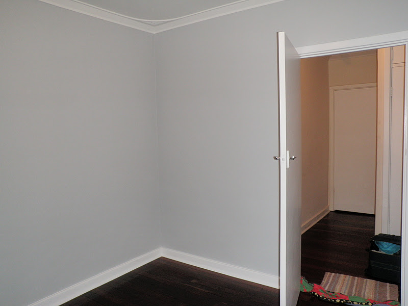 Walls were painted, 2 coats of white went on the door frame, window