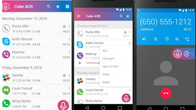 تحميل تطبيق  Cube Call RecorderACR لتسجيل مكالمات الواتساب والفيس بوك جديد2020