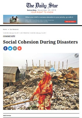 Social Cohesion During Disasters