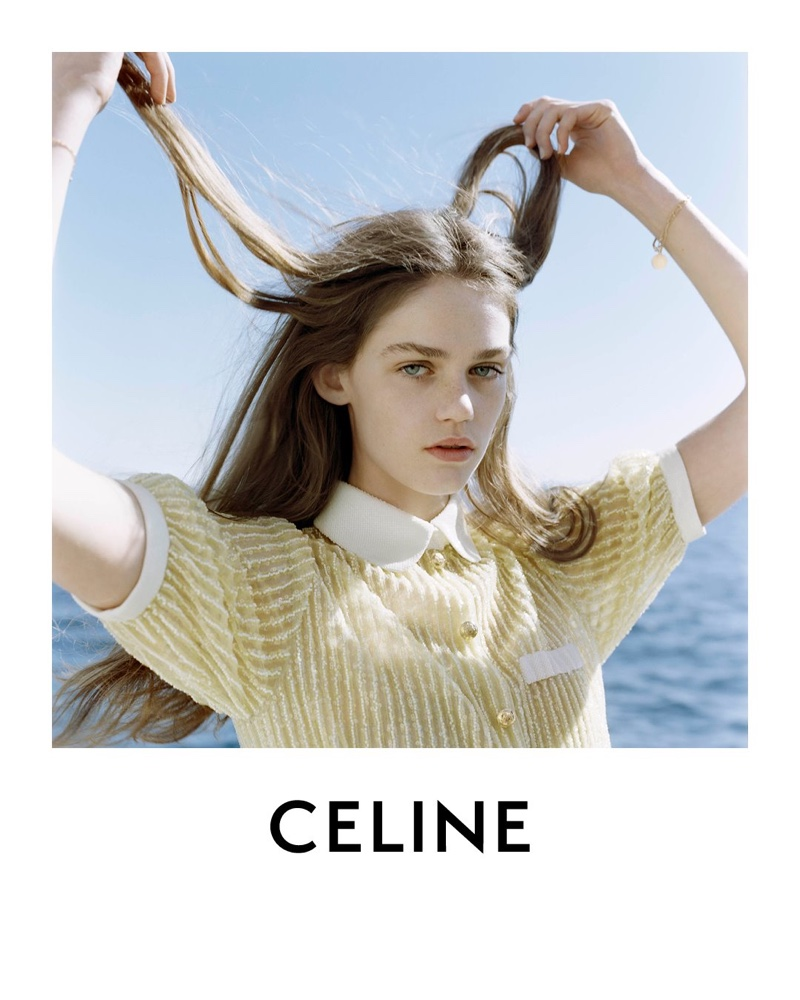 Celine taps new face Anna Pepper for spring 2021 campaign.