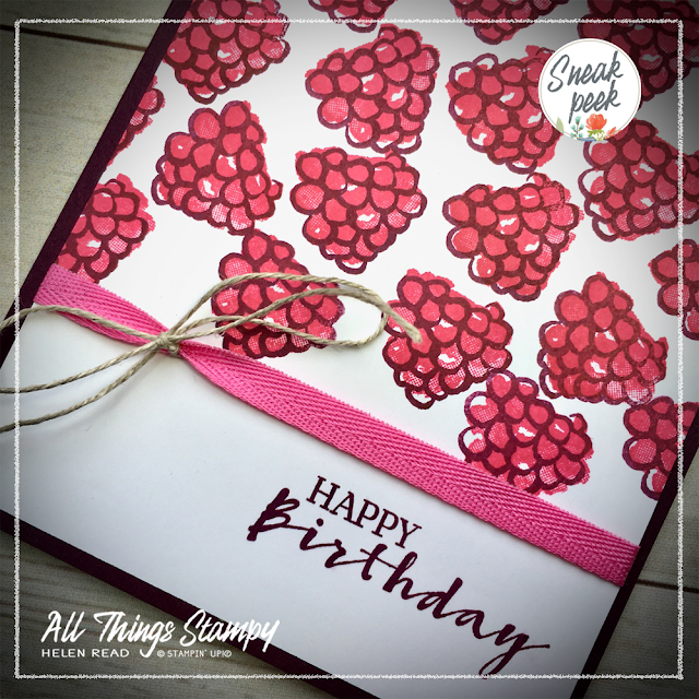 Sale-a-Bration sneak peek Berry Blessings Stampin Up