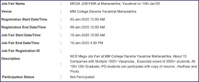 Mega Job Fair at Maharashtra | Yavatmal