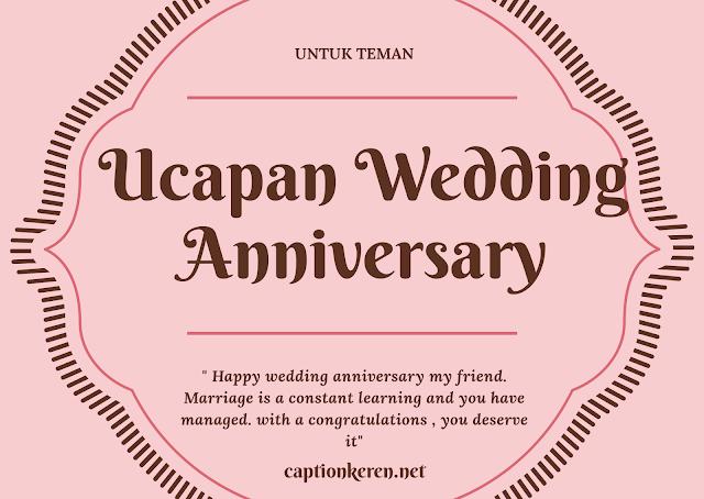 Ucapan Wedding Anniversary Bahasa Inggris Untuk Teman