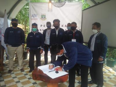 AJV PENGDA Banten Dilantik, AJV Siap Memberi Pembelajaran Kepada Siapa Saja Untuk Menjadi Jurnalis Yang Baik, Dan Positif.