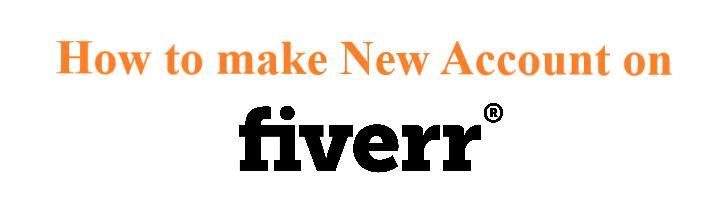 Make account on Fiverr