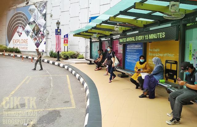 Shuttle bus stop for KL tower
