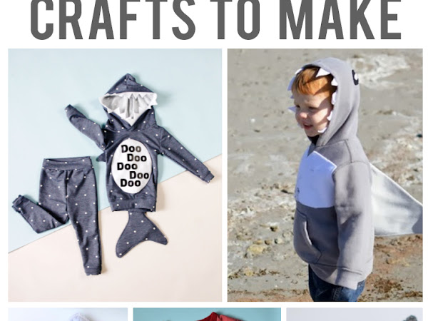 10+ Shark Weeks Crafts to make and Shark Things buy