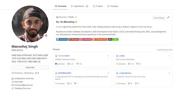 Mansehej GitHub profile Readme