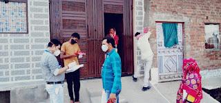 कोरोना पॉजिटिव मरीजो तक पहुचा रही स्वास्थ्य विभाग की टीम, तीन मरीज निकले पॉजिटिव