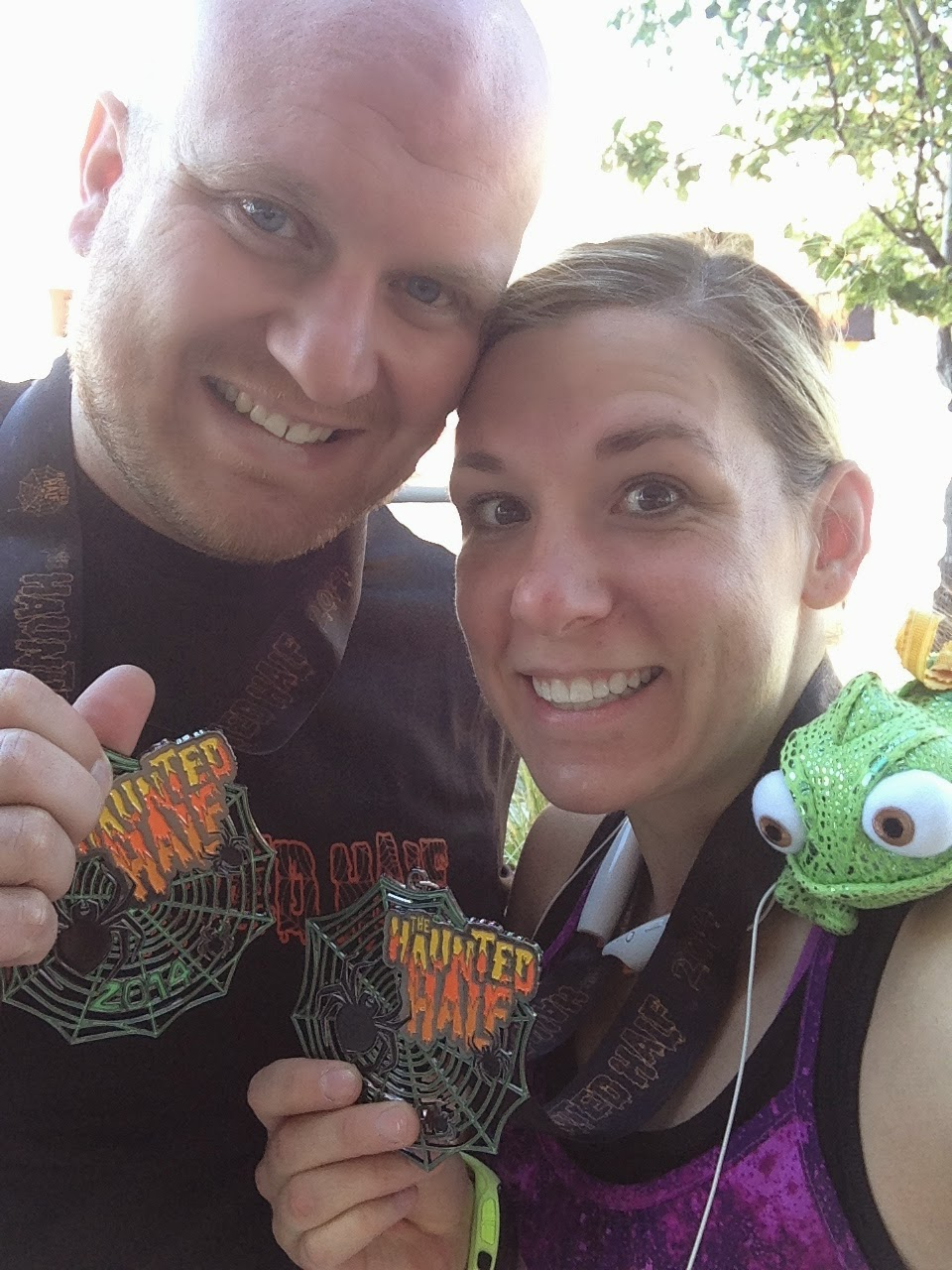 Haunted Half Marathon finished with running with Chase