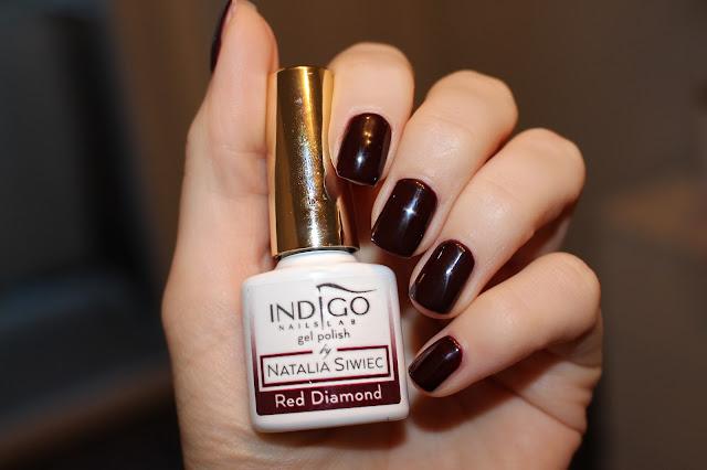 indigo swatch czerwony na jesień lakier hybrydowy