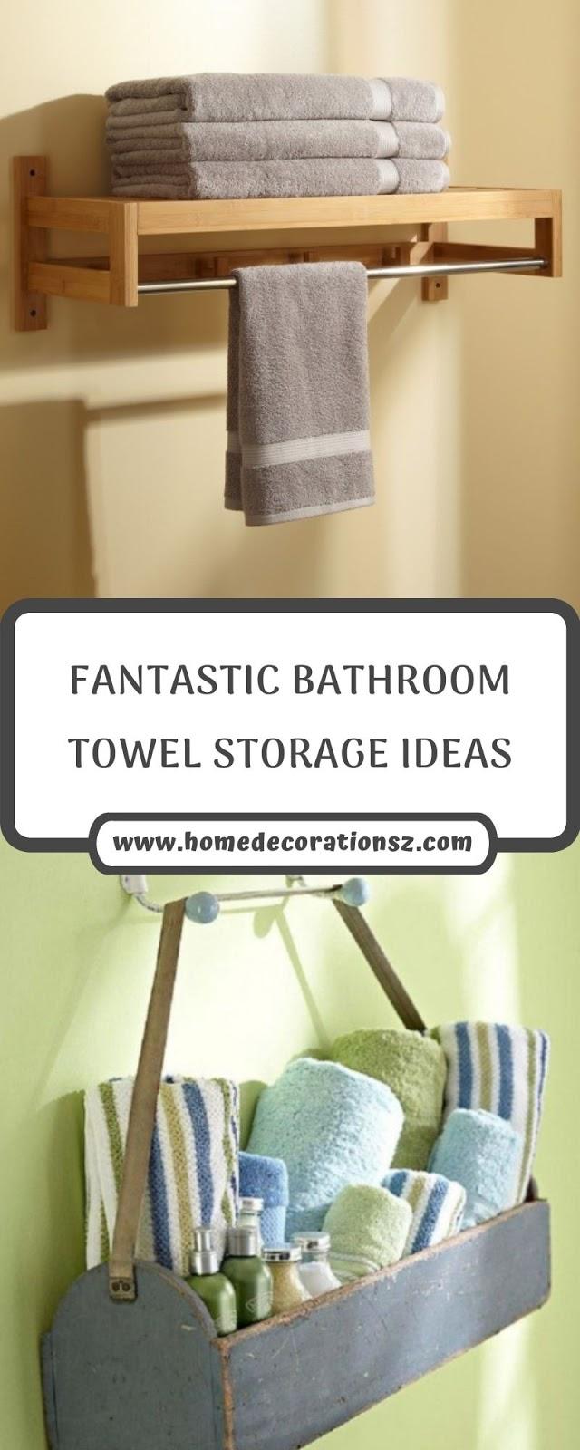FANTASTIC BATHROOM TOWEL STORAGE IDEAS