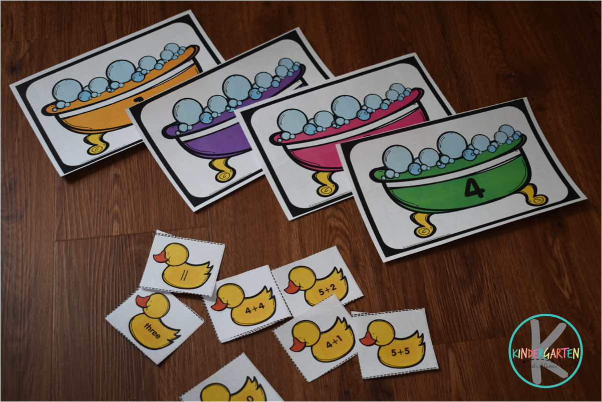 Kindergarten Worksheets And Games Free Rubber Duckies