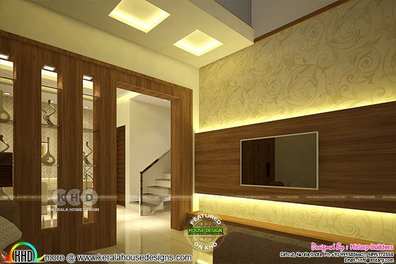 Living, Dining, Bedroom, Kitchen interios in Kerala
