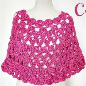 Capa Rosa a Crochet