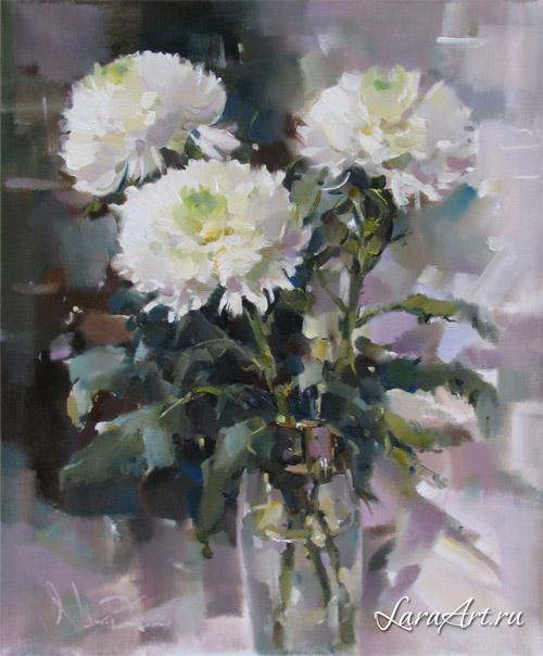 Хризантемы, натюрморт с цветами