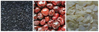 Dżem wiśniowy z płatkami migdałowymi