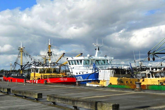 Wexford town fishing boats