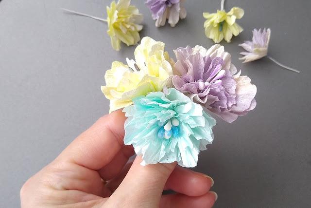 kwiatki ręcznie robione