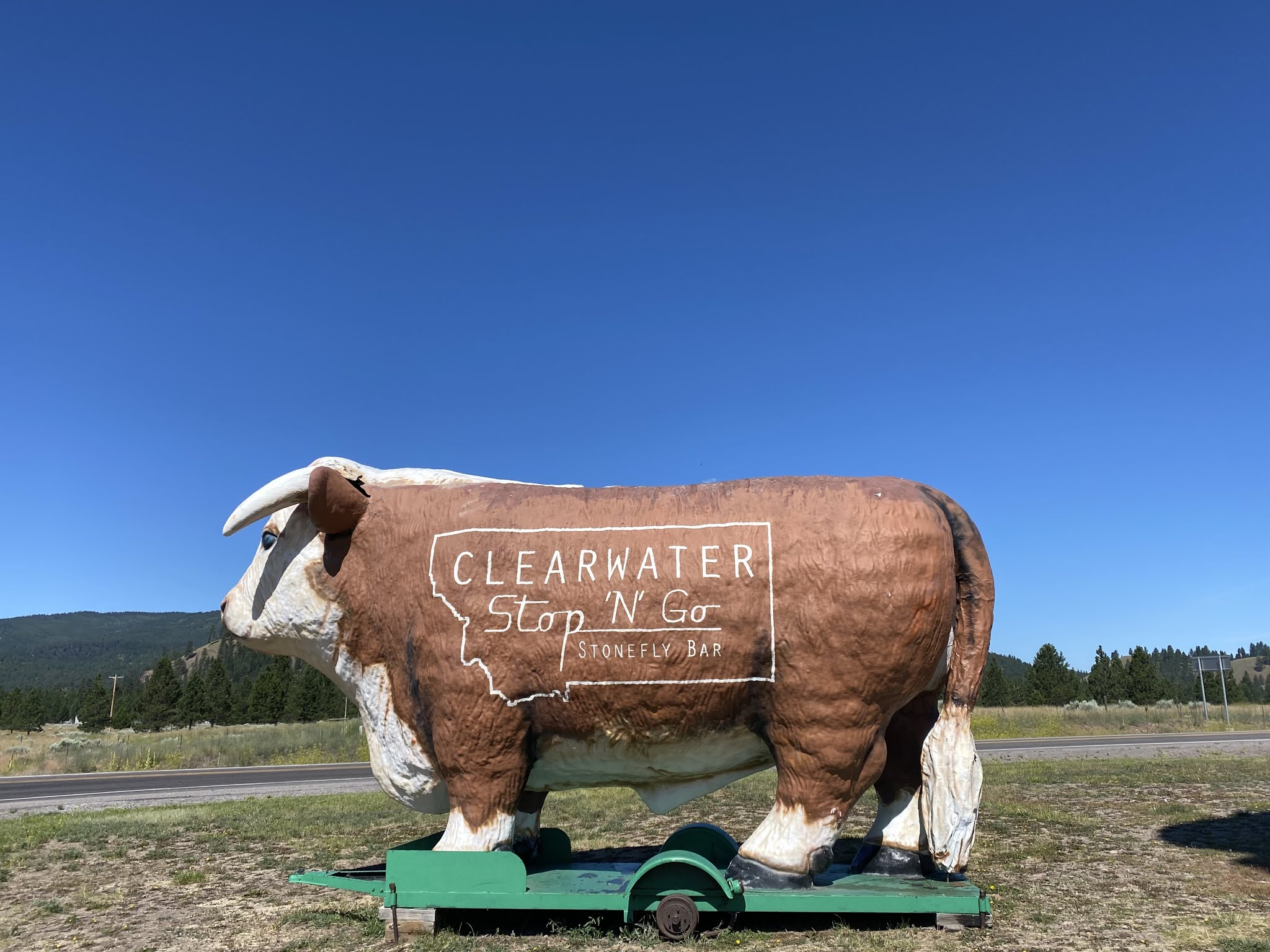 Giant Cow in Clearwater, Montana | biblio-style.com