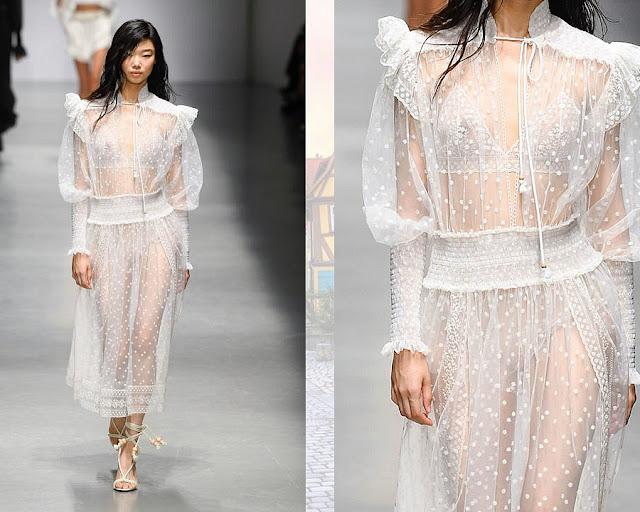 Платья из прозрачных тканей