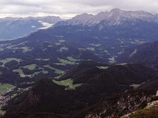 Mountain range of Germany as seen from Untersburg