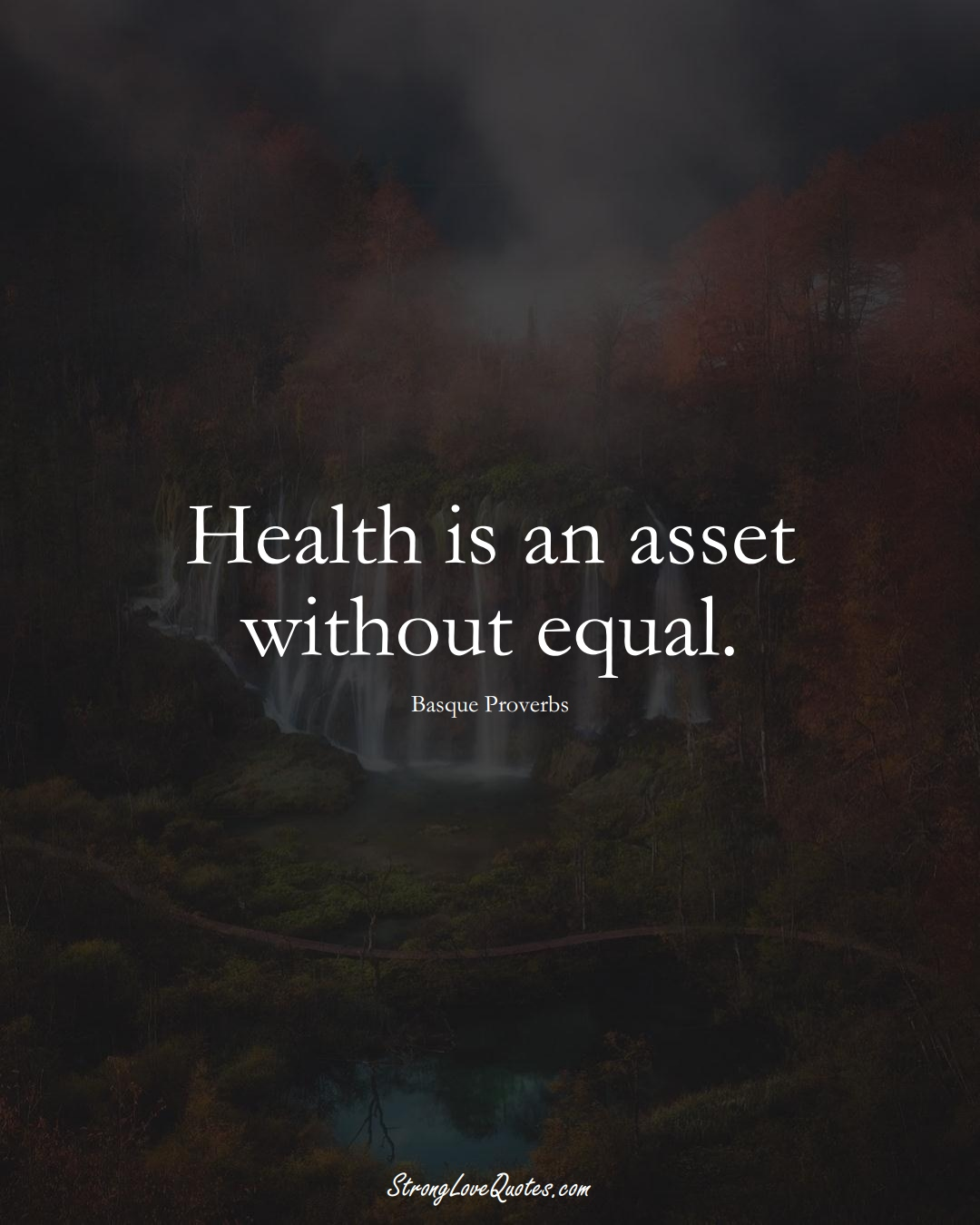 Health is an asset without equal. (Basque Sayings);  #EuropeanSayings