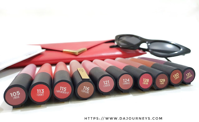 Review and Swatch L'OREAL Rouge Signature Matte Color Ink