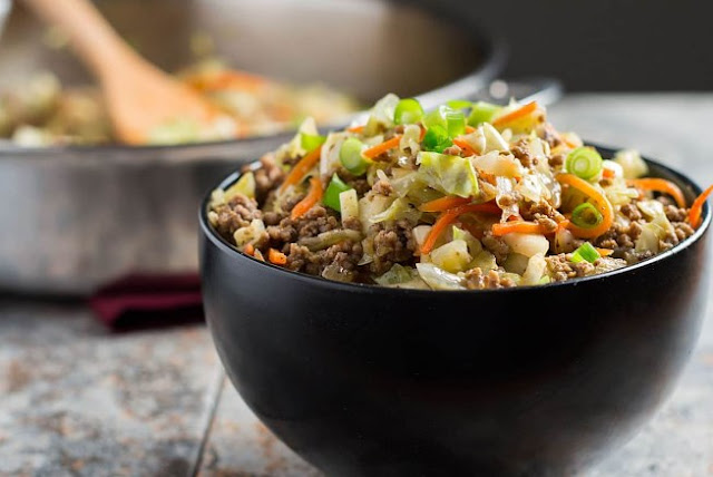 Egg Roll in a Bowl #healthy #lowcarb