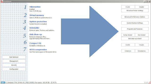 تحميل وشرح برنامج Free Drive C لتحرير وتوفير مساحة قرص النظام C