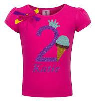 Bubblegum Divas Girls 2nd Birthday Ice Cream Shirt